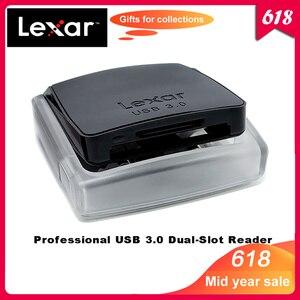 Image 1 - 100% original lexar professional usb 3.0 compactflash leitor de cartão sd/sdxc/sdhc duplo slot reader400 acelerar até 500 mb/s