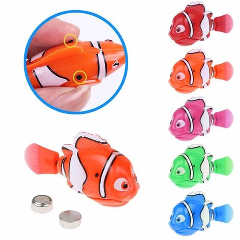 Drop Shipping Electronic Fish Swim Toy Battery Included Robotic Pet For Kids Bath Toy Fishing Tank Decorating Act Like Real Fish