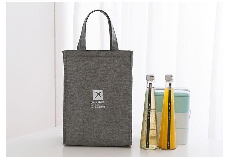 pacote fresco saco de mão caixa de almoço térmica escola