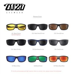 Image 3 - 20/20 Brand Design Vintage Polarized Sunglasses Men Fishing Shades Driving Male Retro Square Sun Glasses Oculos Eyeglasses