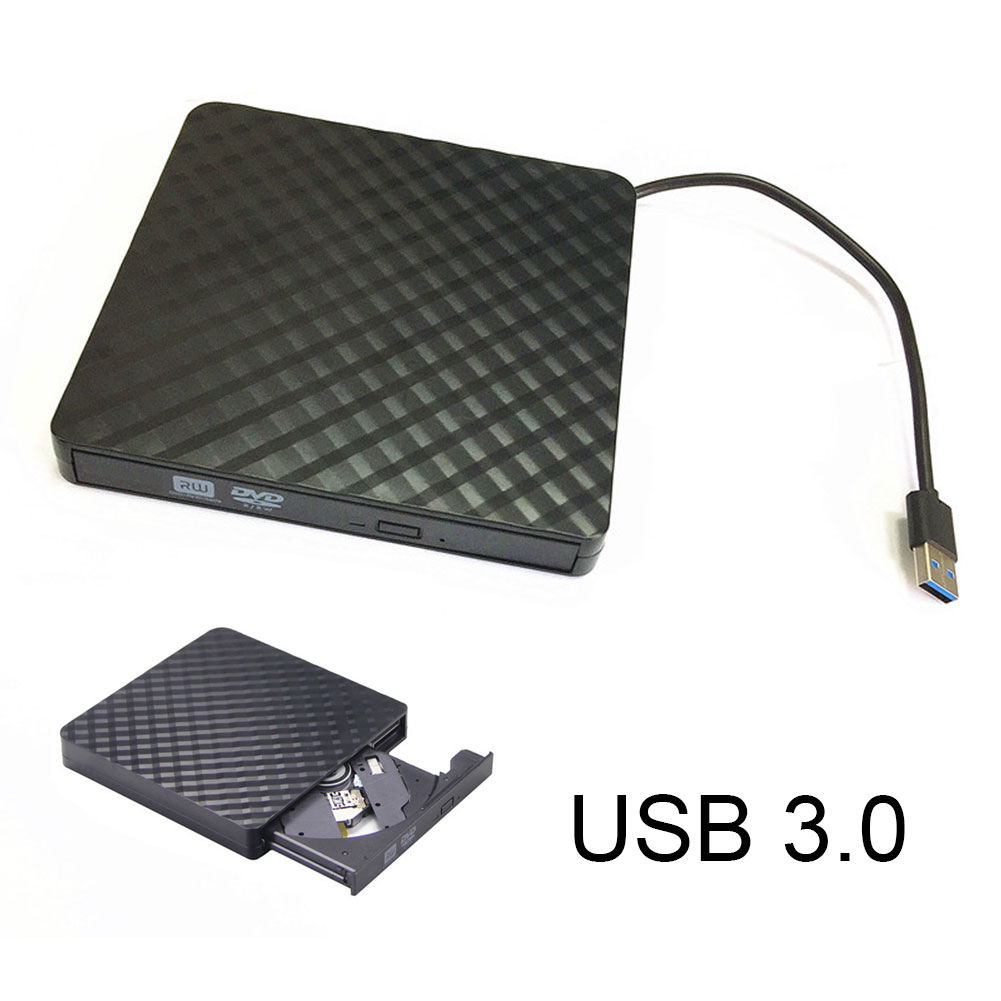 New Portable USB3.0 External CD/DVD/VCD Optical Drive CD-RW Writer Recorder Driver for PC Laptop Computer SL@88