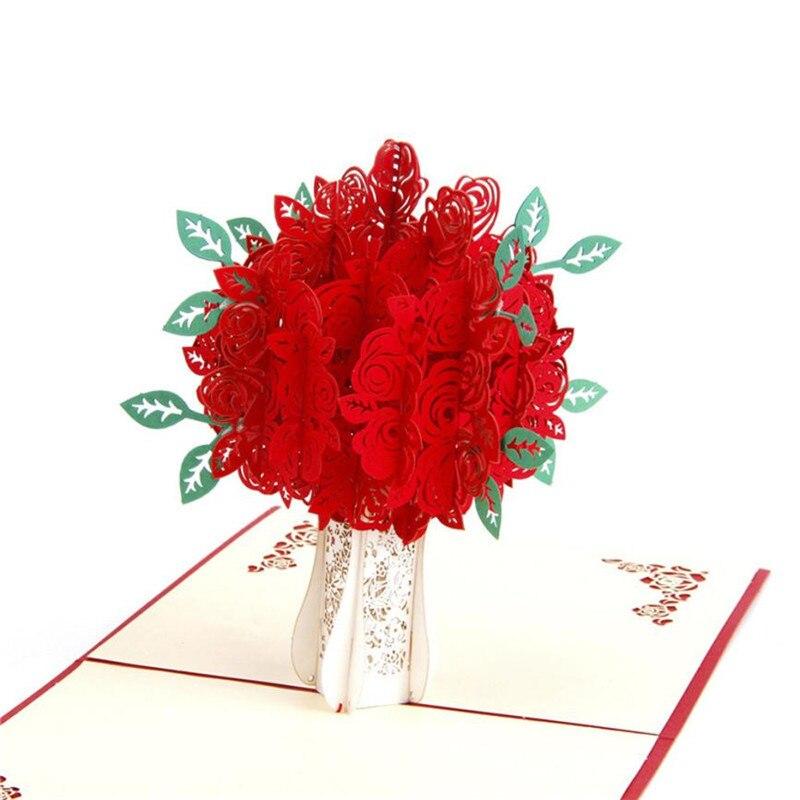 Поздравления марта, открытка 3 красных розы