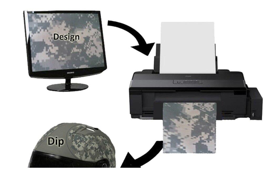 Blank Hydrographie Film Drucker Wasser Transfer Druck Film Inkjet Drucker Diy Drucker