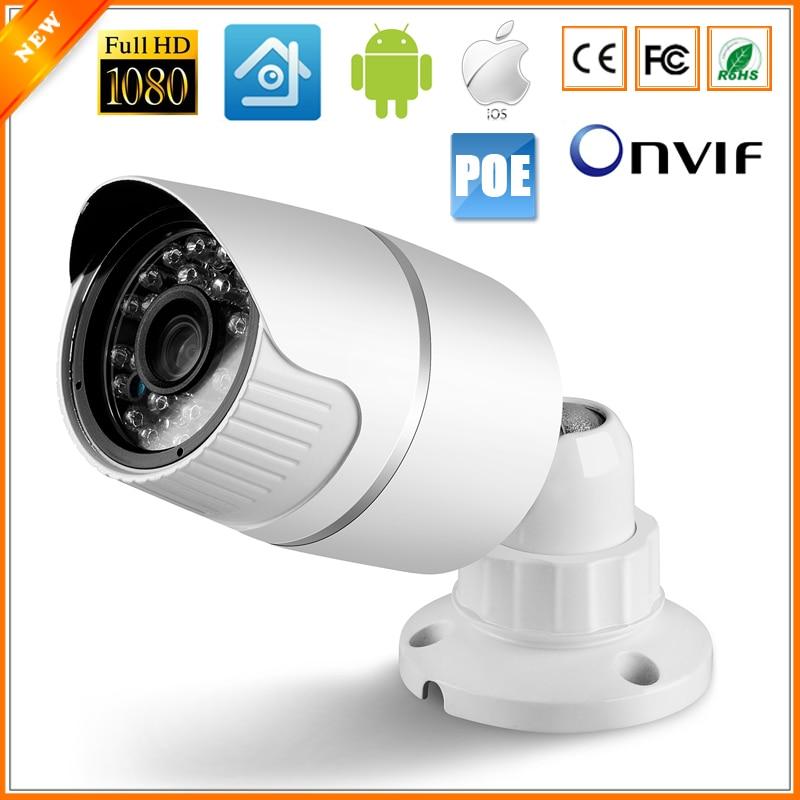 imágenes para Full HD PoE Cámara 48 V PoE Cámara IP 720 P 960 P 1080 P (sony imx322) PoE Cámara IP Bala Al Aire Libre Cámara de Seguridad ONVIF 2.0 IP66