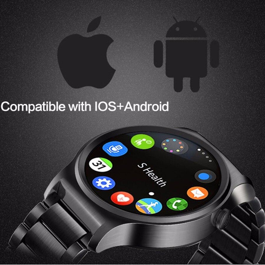 Новые GW01 Bluetooth Смарт часы ips круглый экран жизни водостойкие спортивные smartWatch для apple huawei Android IOS телефонов