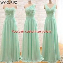 d51090b27 QNZL95#Custom colors long Bridesmaid Dresses mint green Chiffon wedding party  dress party gown wholesale