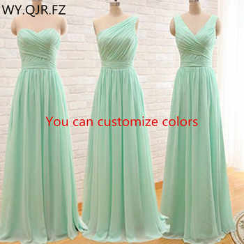 QNZL95#Custom colors long Bridesmaid Dresses mint green Chiffon wedding party dress party gown wholesale women's cheap clothing - DISCOUNT ITEM  10% OFF All Category