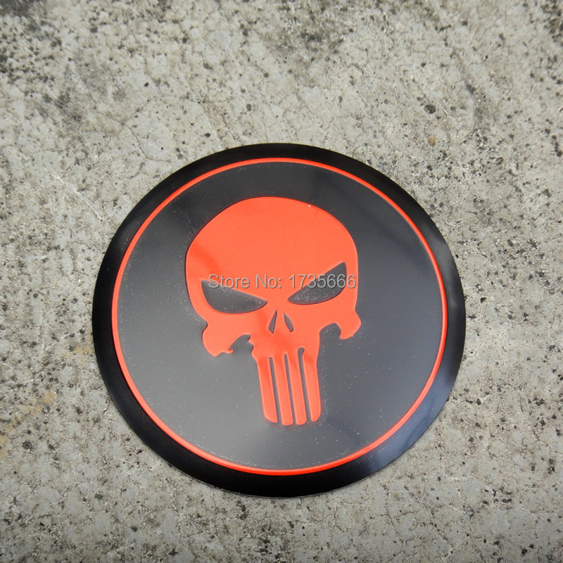 20pcs / Lot Car Tire Wheel Center Hub Cap Red Punisher Skull Emblem Badge Decal Sticker Modify Set For V-w All Model 90mm Available In Various Designs And Specifications For Your Selection