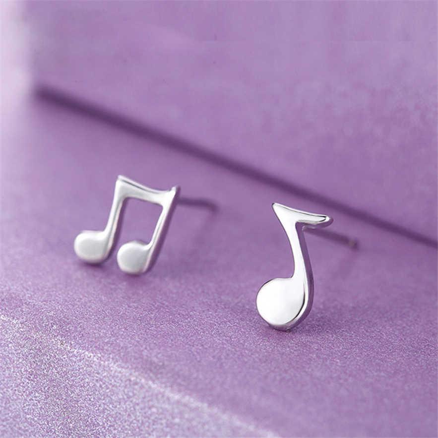 Elegante Jóias 1 Par brincos Notas Musicais Brincos Das Mulheres do vintage mini Ear Stud Presente rando pendientes pendientes largos hombre