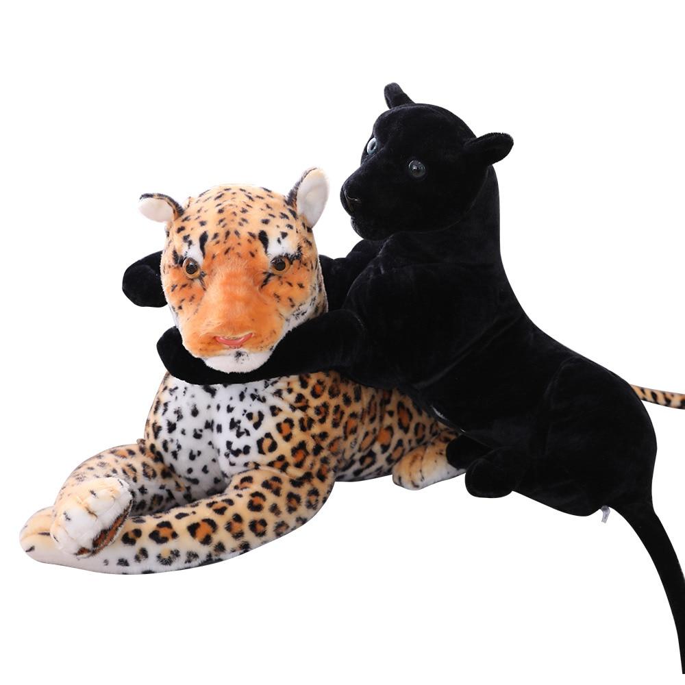 Forest King Panthera Pardus Multisizes Simulation Stuffed Wild Animal Cheetah Plush, Black Panther Leopard Soft Toys