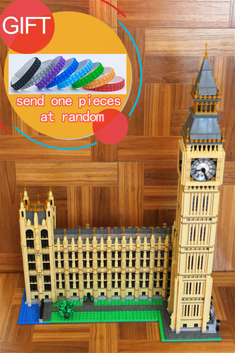 17005 4163Pcs City Series Big Ben Model Building Kit Compatible For Childre Gift 10253 toys lepin gift box set handleless pot pillar cup filter cup drip coffee maker grinder home use can send a person top grade coffee gift box