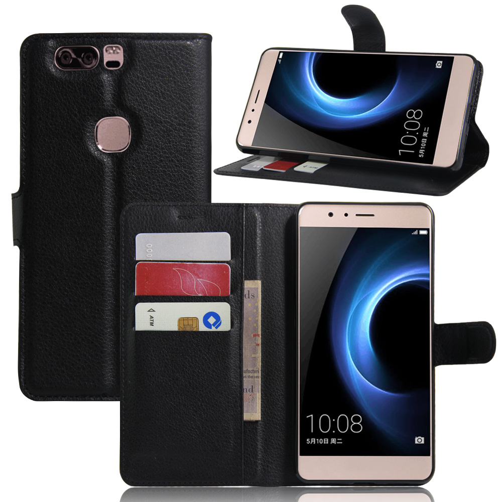Case For Huawei Honor V8 Luxury Wallet PU Leather Case For Honor V8 KNT-AL20 KNT-AL10 5.7 Stand Flip Card Hold Phone Cover Bags