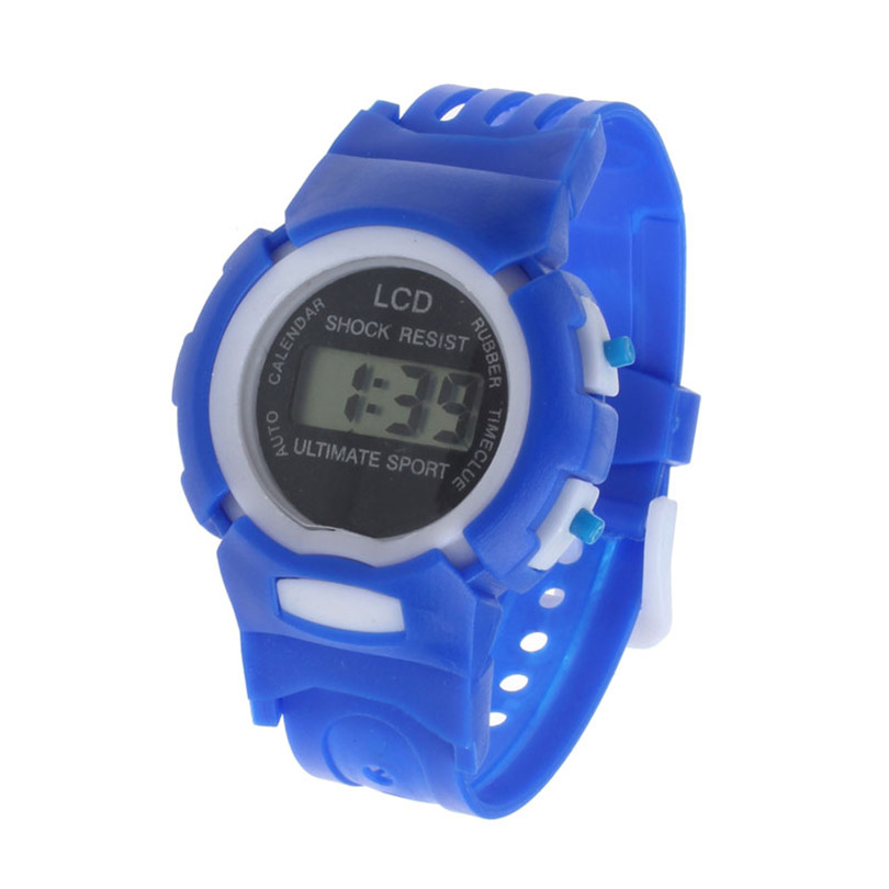 Kid Watch Alarm-Date Quartz Digital Purple Girls Electronic Boys Smart Sport LCD 4m15