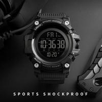SKMEI-Reloj deportivo con cronómetro para hombres, pulsera impermeable con led electrónico, con función de cuenta atrás y diseño superior de lujo de marca y estilo masculino