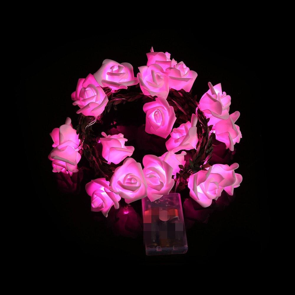 FGHGF 2018 Multi Color 20 LED Cell Box Garden Party Rattan Rose Lantern Skewers Xmas Party Garden Decor Hot Sell Drop Shipping