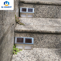4PACK 4rd New Solar Power 4LED Outdoor Garden Pathway Stairs Lamp Light Waterproof Solar Step Lamp