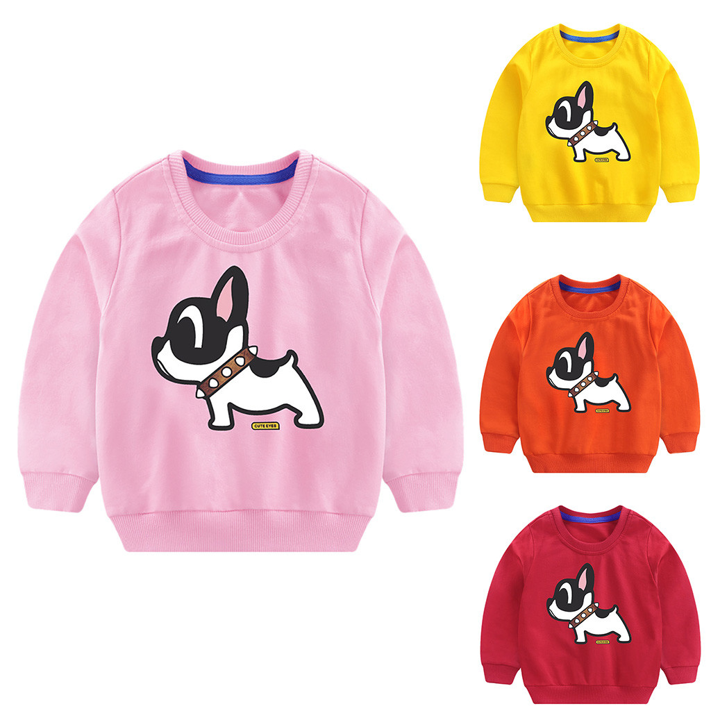 12M-8Y Boys Girls Baby Long Sleeve T Shirts Children Tees Kids Tops Cartoon
