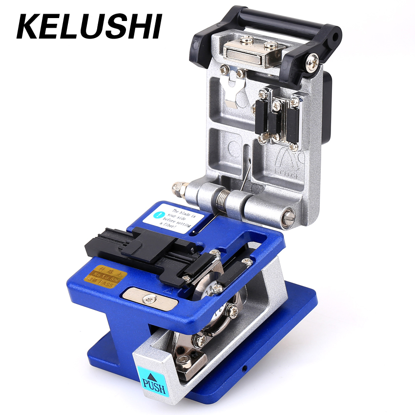 KELUSHI Optisk fiber Toos Cold Connection FC-6S Optic Fiber Cleaver Cutter 250um - 900um 12 Posisjonsblad Metallmateriale