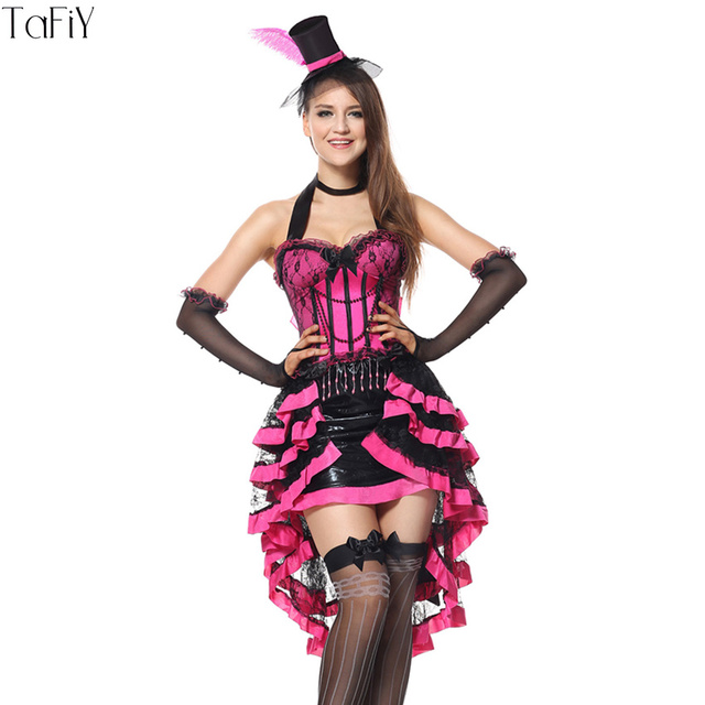 TaFiY Good Quality Sexy Vampire Costumes For Women Gothic Halloween Costumes  For Women Carnival Costume Fancy Dress+Hat+Gloves