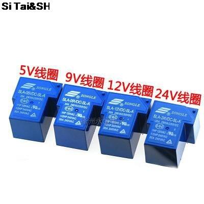 2 pçs/lote Poder s SLA-05VDC-SL-A SLA-12VDC-SL-A SLA-24VDC-SL-A SLA-48VDC-SL-A 5V 12V 24V 48V 30A 5PIN T90