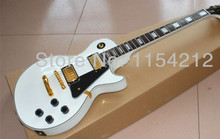 Free shipping---New arrival Pearl white color G-Custom LP Electric Guitar