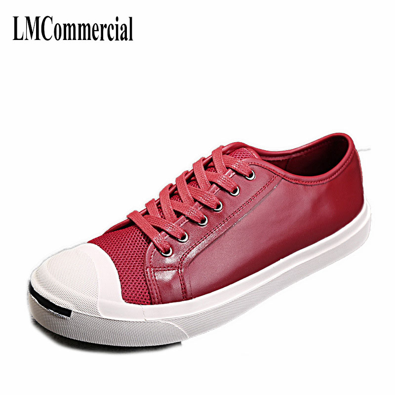 spring and autumn all-match white shoes simple Korean Mens Casual shoes black cowhide breathable sneaker fashion boots men Leisu 2017 new spring imported leather men s shoes white eather shoes breathable sneaker fashion men casual shoes