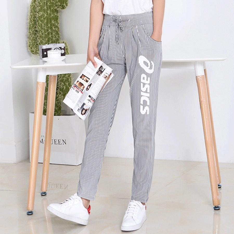 New Pattern Leisure Time Woman Summer Korean Thin Long Pencil Women   Pants     Capris