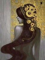 トップ油絵サプライヤー手作り高品質再現有名なグスタフ·クリムトの油絵クリムトキャンバス絵画