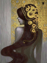 China Top Oil Painting Supplier Handmade High Quality 100% Reproduction Famous Gustav Klimt Gold Leaf On Canvas