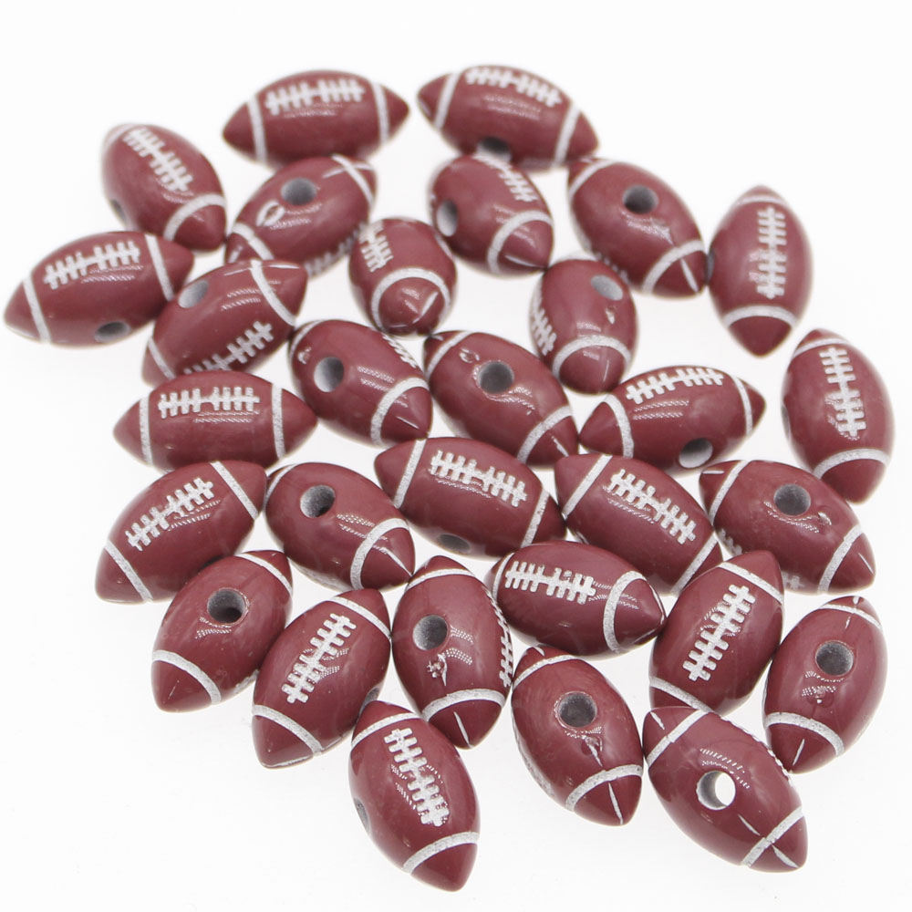 100PCS Pretty AMERICAN FOOTBALL Rugby Sports Charms Beads Pendants For Bracelets
