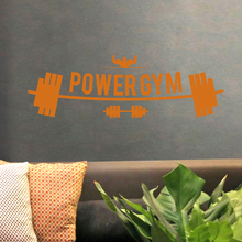 Fitness Club Power GYM Decal Gym Sticker Dumbbell Posters Vinyl Wall Decals Pegatina Decor Mural Gym Sticker JXB003