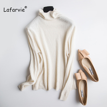 Lafarvie Turtleneck Cashmere Sweater Women Basic Korean Slim Winter Sweaters For Pullovers