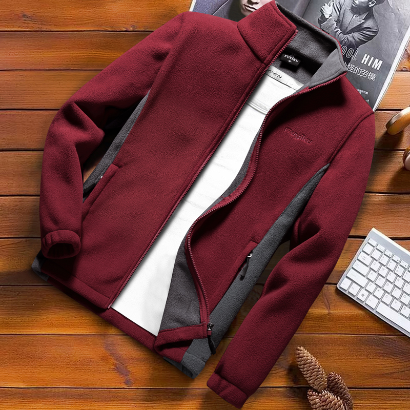 Fashion Mens Spring Jacket 2020 Autumn Stand Collar Homme Casual Jacket Men Thermal Fleece Male Coat Plus Size 6XL 7XL 8XL 9XLJackets   -