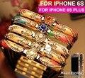 Урожай Ретро Роскошные Китай Керамическая Горный Хрусталь Bling Case 5S Алмаз Алюминий металл Рамки бампера case для iphone 6 6 Гной 5 5S