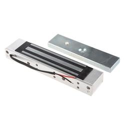 シングルドア 12 12v 電気磁気電磁ロック 180 キロ (350LB) アクセス制御のための保持力シルバー