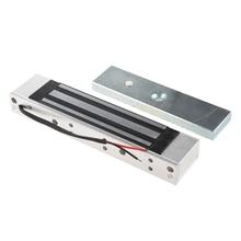Porta singola 12V Elettrica Magnetica Serratura Elettromagnetica 180KG (350LB) Forza di Tenuta per il Controllo di Accesso argento