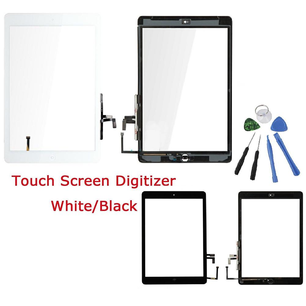 Replacement Touch Screen Digitizer Home Button Kits for iPad Air 1st Generation LCD Outer Panel Front Glass Sensor Replacement