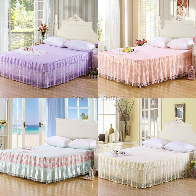 Princess Style Lace Multi Layer Ruffled Tulle Bedding Bed Skirt