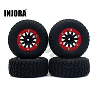 4PCS 1 10 RC Short Course Truck Wheel Rim And Tires For 1 10 TRAXXAS SLASH