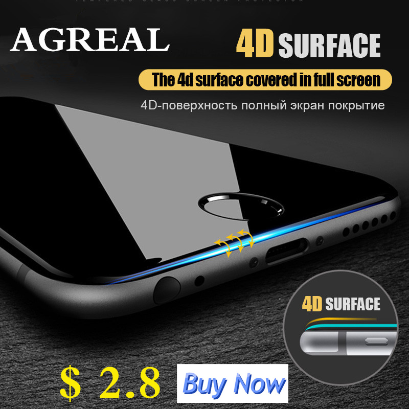iphone 6 4D full cover tempered glass for iphone 7 Plus 3D screen protector film for iphone 6s Plus