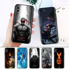 Black Rubber Soft Silicone Case Bag Cover for iPhone XS XR X 7 8 6 6S 5C 5E 5S 5 Plus Max Shell Fundas lol League of Legends(China)