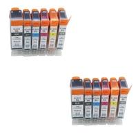 12pcs PGI225 Ink Cartridge For Canon PIXMA MG6120 MG6220 MG8220 MG8120 MG8120B Printer Full Ink PGI