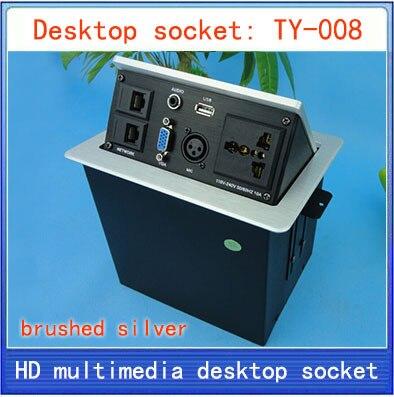 все цены на Desktop socket / hidden multimedia information box outlet / network RJ45 Audio VGA 3 pin XLR interface desktop socket Box TY-008 онлайн