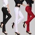 Sexy Leggings Moda Coreano Calças de Cores Doces Calças 9 Cores 7 Tamanhos das Mulheres Slim Fit Vestido Casual Sweatpants