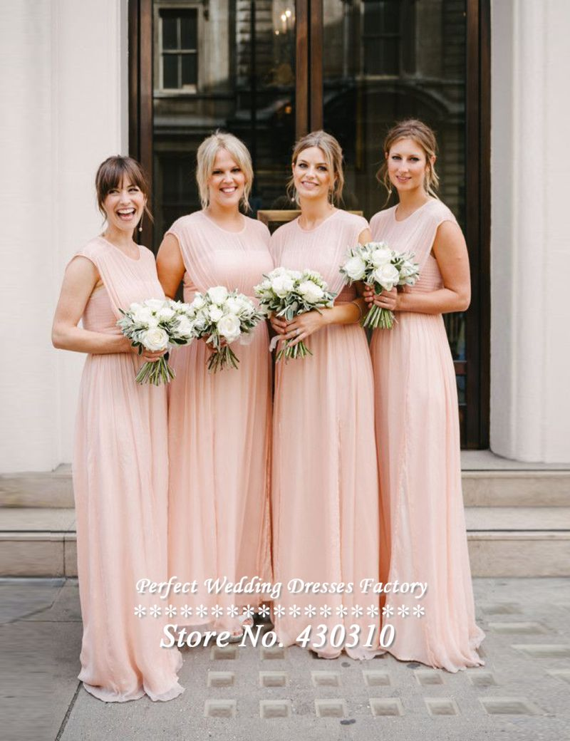 Compare prices on bridesmaid peacock dress online shoppingbuy 2015 latest cheap long light pink chiffon bridesmaid dresses sexy a line pleated cap sleeves ombrellifo Image collections