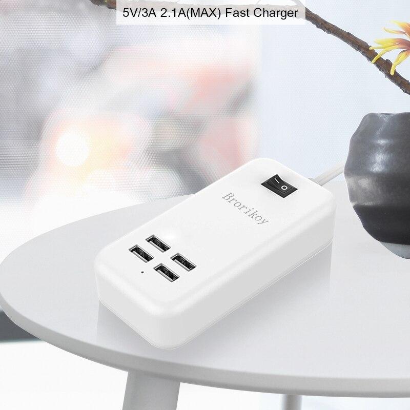 4 պորտ USB պատի լիցքավորիչ EU Plug 15W 3A - Բջջային հեռախոսի պարագաներ և պահեստամասեր - Լուսանկար 2