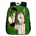 For 1-5 Y Small Children Nylon Backpack For Boys Girls Funny Dog Selfie Shoulder Bag Puppy Backpack Kindergarten Kids Schoolbag