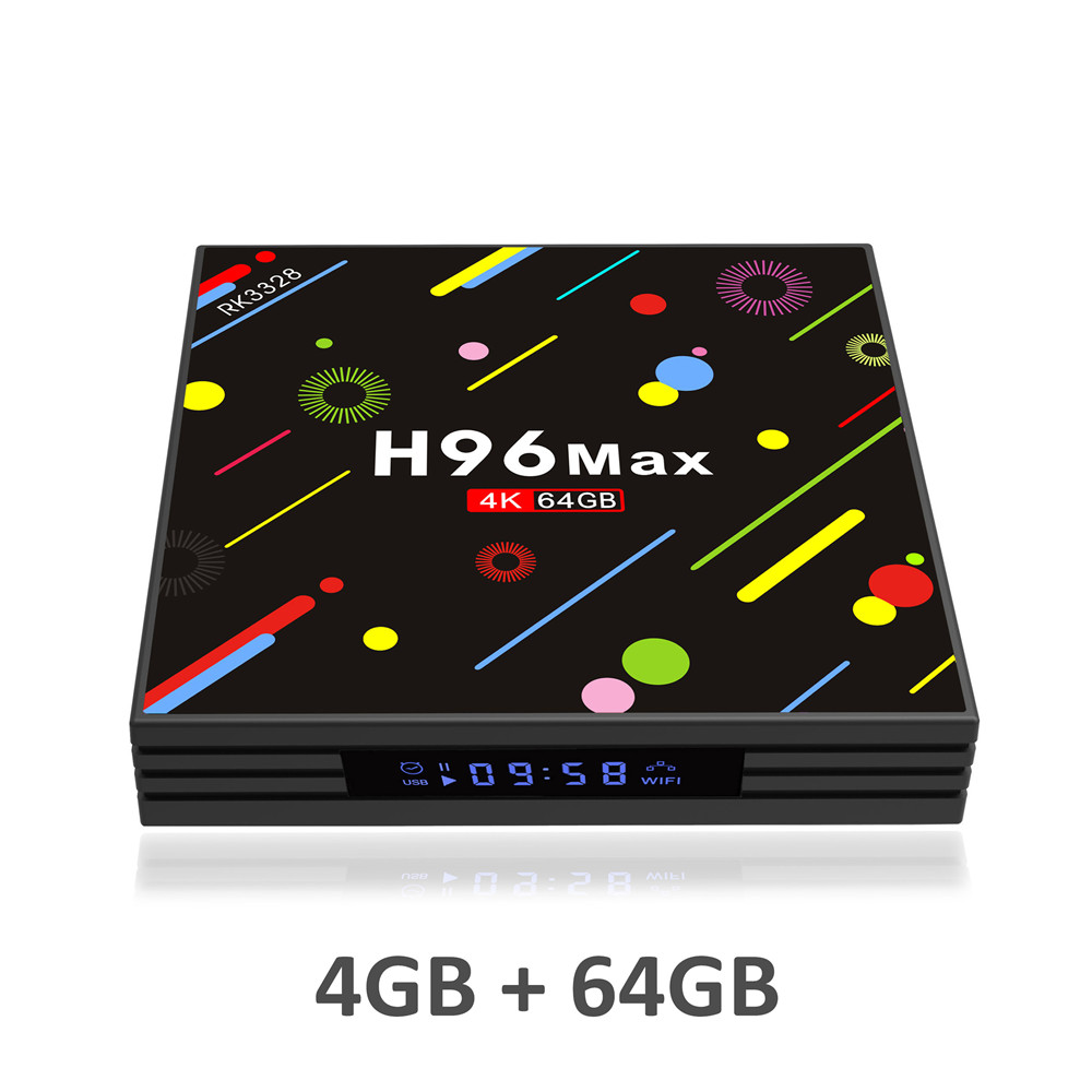 H96 MAX H2 4GB RAM 64GB ROM Smart TV Box Android 7.1 RK3328 Set Top Box HDR10 USB3.0 2.4G/5G WiFi Bluetooth 4K Media Player PRO h96 max android 7 1 tv box 4gb ram 32gb rom set top box rk3328 2 4g 5g wifi bluetooth 4 0 4k media player iptv smart tv box