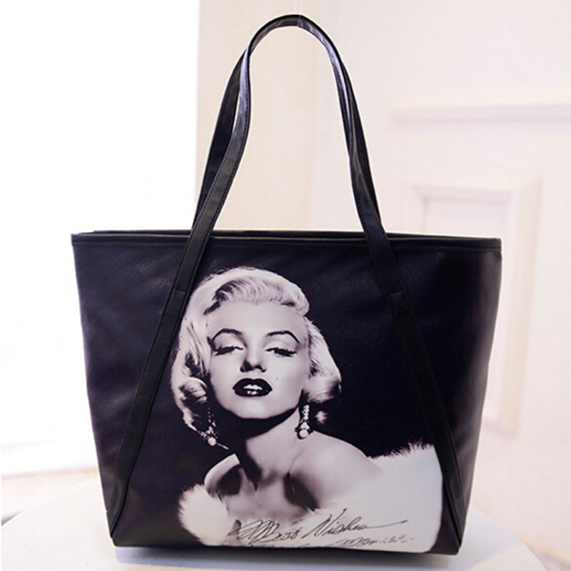 2016 New Fashion Women's Large Capacity Bag 3D Print Marilyn Monroe - Handtassen - Foto 5