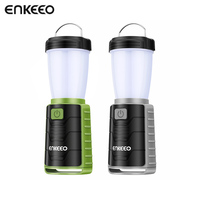 Enkeeo USB Rechargeable Camping Lamp Ultra Bright Portable Battery Powered Light For Outdoors Hiking Tent Garden